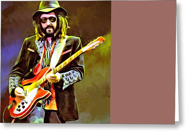 Petty Digital Greeting Cards - Mike Campbell Portrait Greeting Card by Scott Wallace