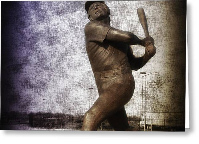 Mike Schmidt - Philadelphia Phillie Greeting Card by Bill Cannon
