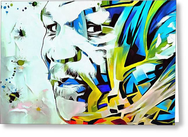 Mike Tyson Abstract Greeting Card by Dan Sproul