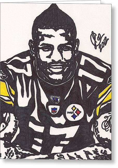 Player Greeting Cards - Mike Wallace 1 Greeting Card by Jeremiah Colley