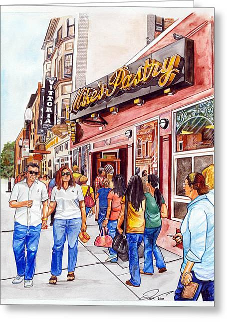Mike's Pastry Greeting Card by Dave Olsen