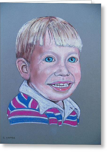 Charles Pastels Greeting Cards - Mikey Greeting Card by Charles Yates