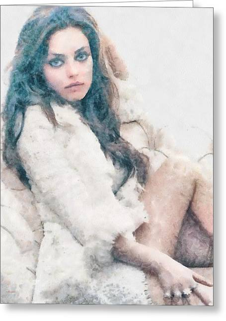 Mila Kunis Greeting Cards - Mila Kunis Greeting Card by Patrick OHare