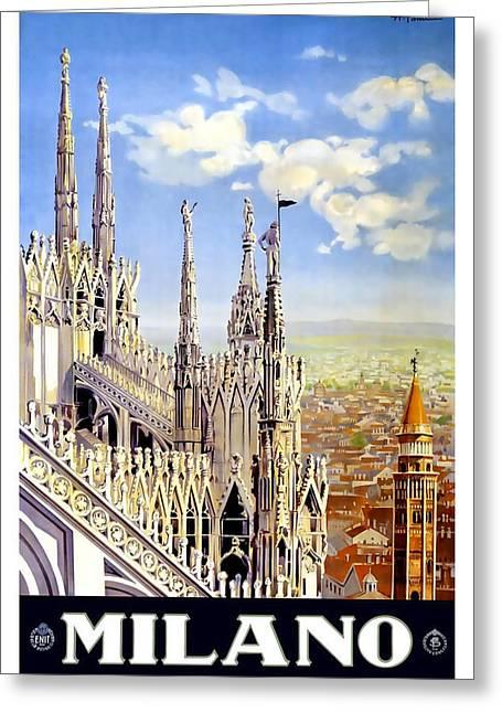 Milano Greeting Cards - Milano Greeting Card by David Wagner