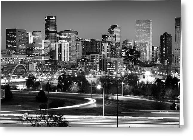 Highway Lights Greeting Cards - Mile High Skyline Greeting Card by Kevin Munro