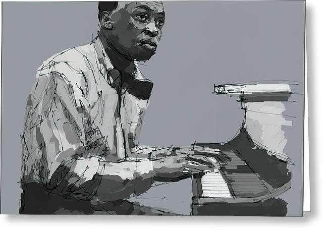 Miles Davis At The Piano Greeting Card by Pablo Franchi