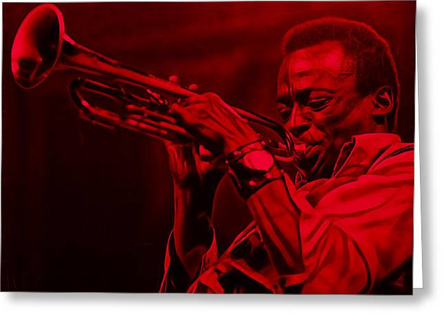 Cool Art Greeting Cards - Miles Davis Collection Greeting Card by Marvin Blaine