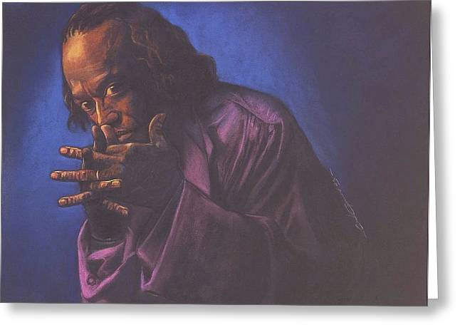 Baby Pastels Greeting Cards - Miles Davis Greeting Card by Curtis James