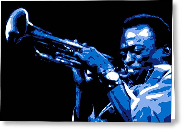 Horns Greeting Cards - Miles Davis Greeting Card by DB Artist
