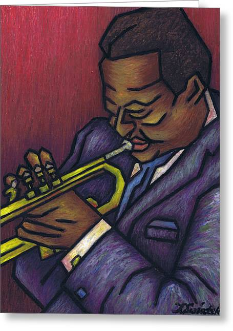 Kamil Greeting Cards - Miles Davis Greeting Card by Kamil Swiatek