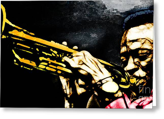 Rhythm And Blues Mixed Media Greeting Cards - Miles Davis Greeting Card by The DigArtisT