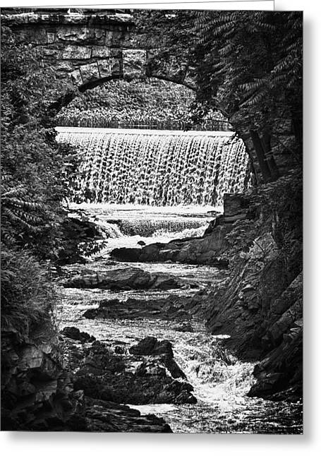 Frank Feliciano Greeting Cards - Milford Center Wepawaug River Bridge Greeting Card by Frank Feliciano