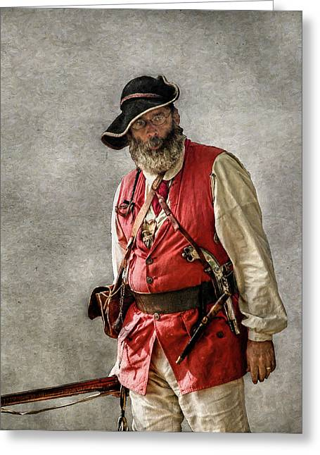 Citizens Greeting Cards - Milita Captain Portrait Greeting Card by Randy Steele