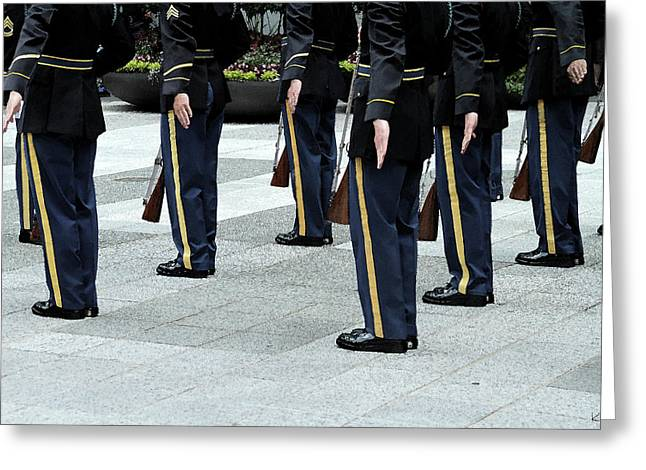 Military Formation Greeting Card by Karol Livote