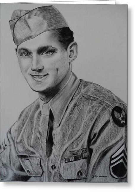 Military Hero Drawings Greeting Cards - Military Heroes Greeting Card by Carla Carson