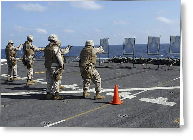 Military Policemen Train Greeting Card by Stocktrek Images