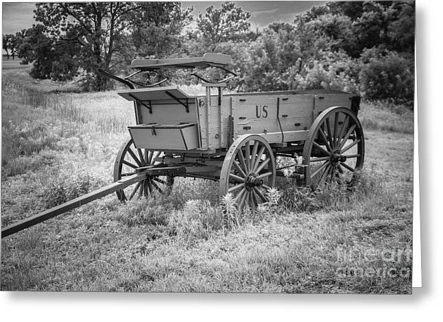 Larned Greeting Cards - Military Wagon Greeting Card by Lynn Sprowl