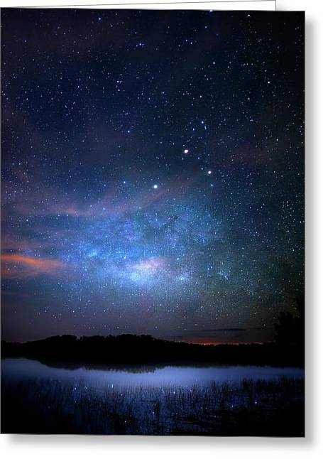 Milky Way At 9 Mile Pond Greeting Card by Mark Andrew Thomas