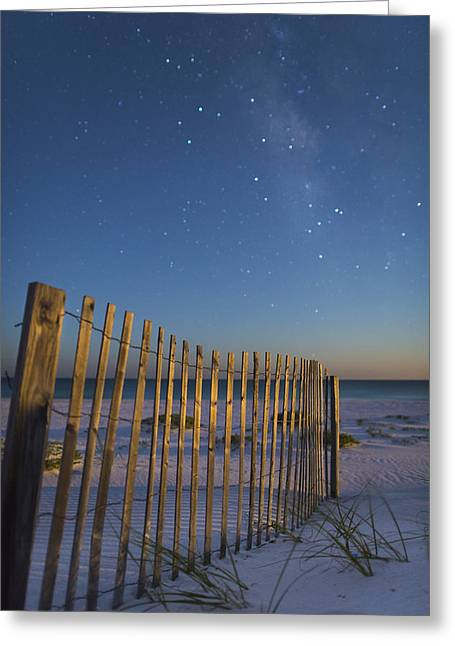 Alabama Greeting Cards - Milky Way Beach Greeting Card by Noah Bryant