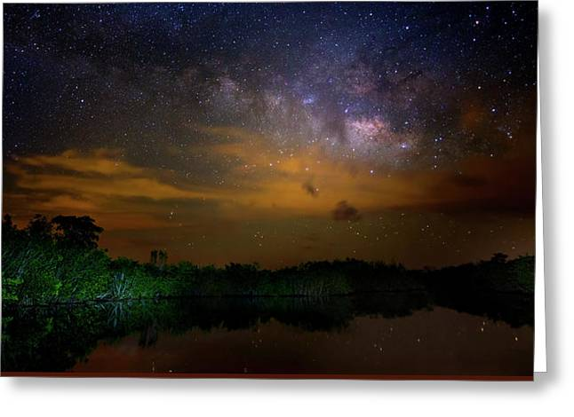 Milky Way Fire Greeting Card by Mark Andrew Thomas