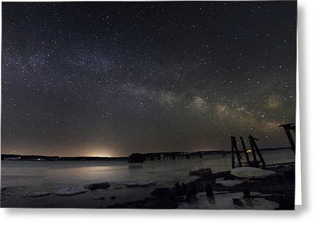 Stockton Greeting Cards - Milky Way from Sandy Point Greeting Card by John Meader