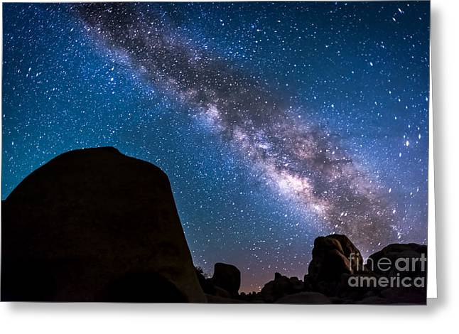 Star Greeting Cards - Milky Way in Joshua Tree Greeting Card by Art K