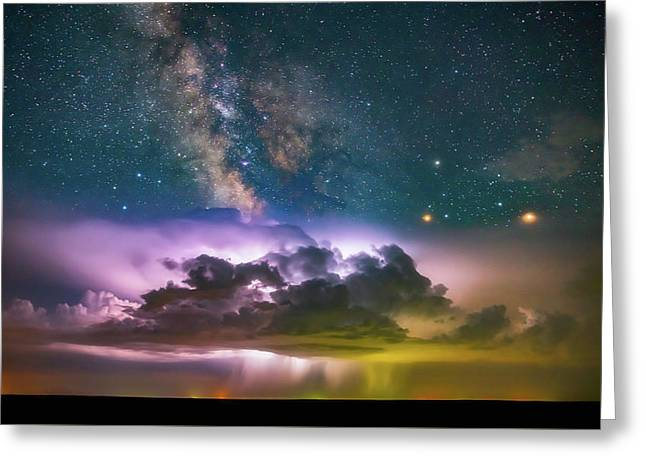 Milky Way Monsoon Greeting Card by Darren White