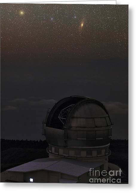 Telescope Domes Greeting Cards - Milky Way Over Gran Telescopio Canarias Greeting Card by Babak Tafreshi