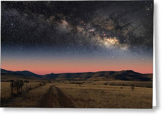 Milky Way Over Texas Greeting Card by Larry Landolfi
