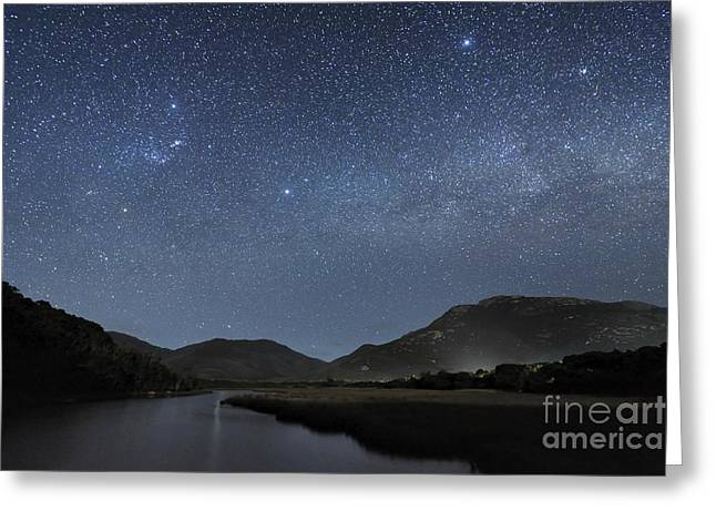 Moonlit Night Greeting Cards - Milky Way Over Wilsons Promontory Greeting Card by Alex Cherney, Terrastro