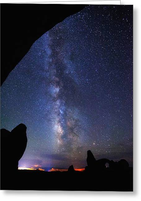 Milky Way Reach Greeting Card by Darren  White