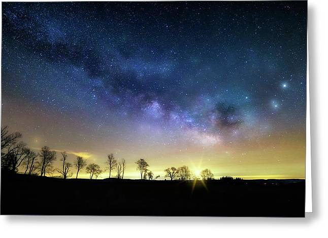 Milky Way Rising Greeting Card by Bill Wakeley