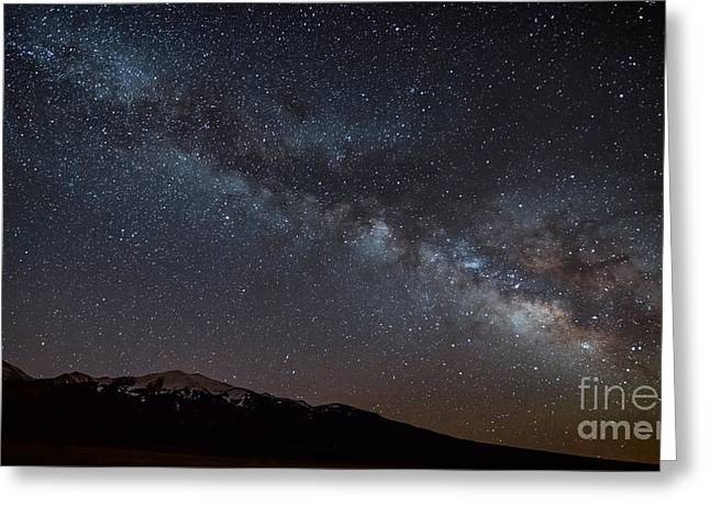 Snowy Night Greeting Cards - Milkyway over Blanca Peak Greeting Card by Benjamin Reed