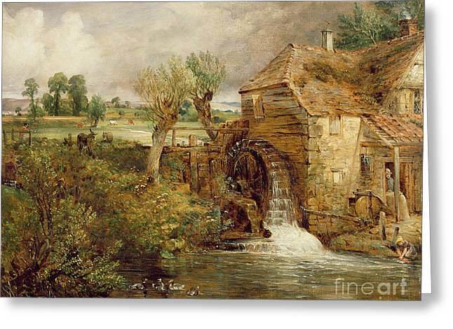 Mill at Gillingham - Dorset Greeting Card by John Constable