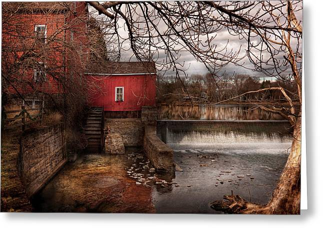 Mill - Clinton NJ - The mill and wheel Greeting Card by Mike Savad