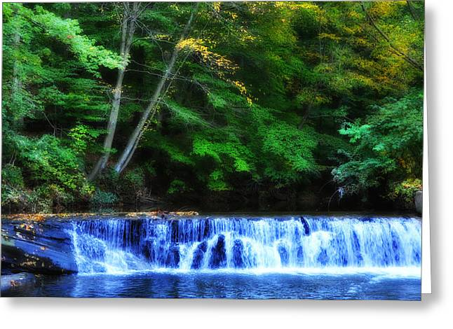 Water Fall Digital Art Greeting Cards - Mill Creek Waterfall Greeting Card by Bill Cannon