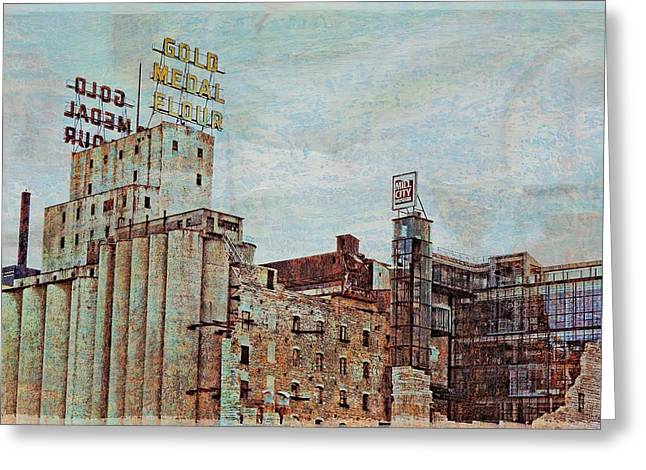 Minnesota Art Greeting Cards - Mill District Minneapolis Greeting Card by Susan Stone