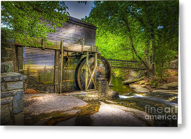 Wooden Building Greeting Cards - Mill Pond Greeting Card by Marvin Spates