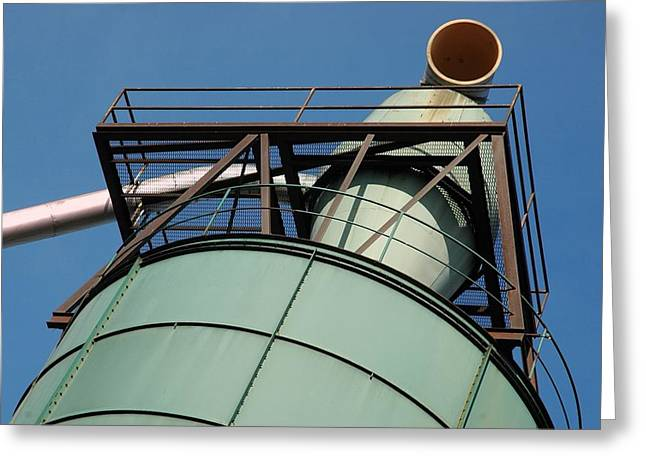 Saw Greeting Cards - Mill Stack Greeting Card by Bill Kellett