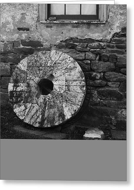 Old Grinders Greeting Cards - Mill Stone Greeting Card by Val Arie