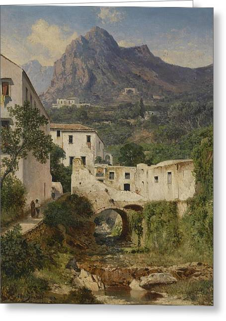 Mill Valley Near Amalfi Greeting Card by Celestial Images