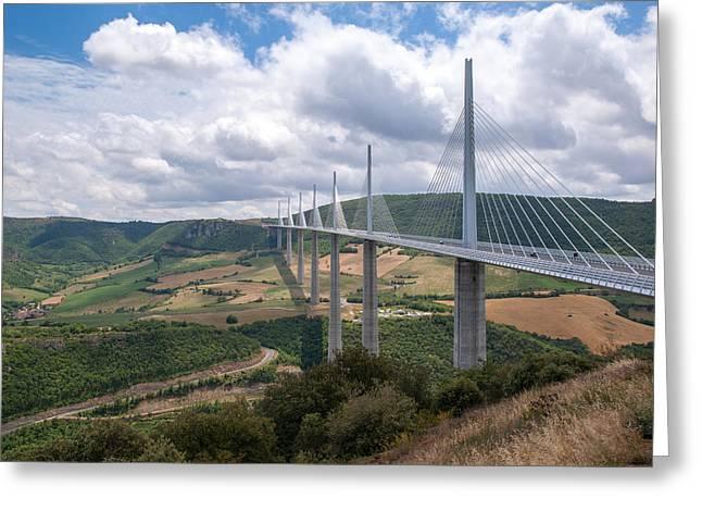 Midi Greeting Cards - Millau Viaduct Greeting Card by Rod Jones