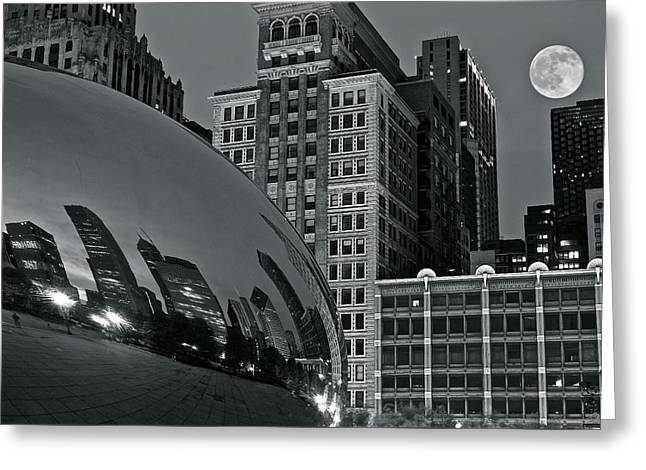 The Bean Greeting Cards - Millennium Park Bean Greeting Card by Frozen in Time Fine Art Photography