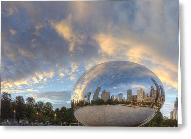 Millennium Park In The Morning Greeting Card by Twenty Two North Photography