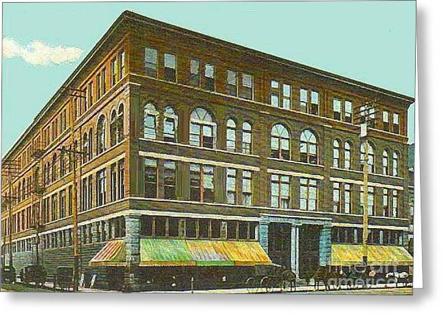 Miller Bros. Department Store In Chattanooga Tn In 1910 Greeting Card by Dwight Goss