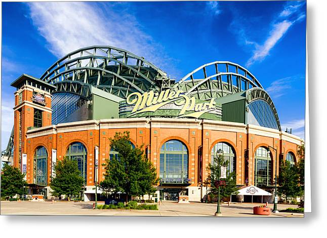 Miller Park Greeting Cards - Miller Park Greeting Card by Keith Homan