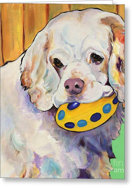 Pat Saunders-white Greeting Cards - Millie Greeting Card by Pat Saunders-White