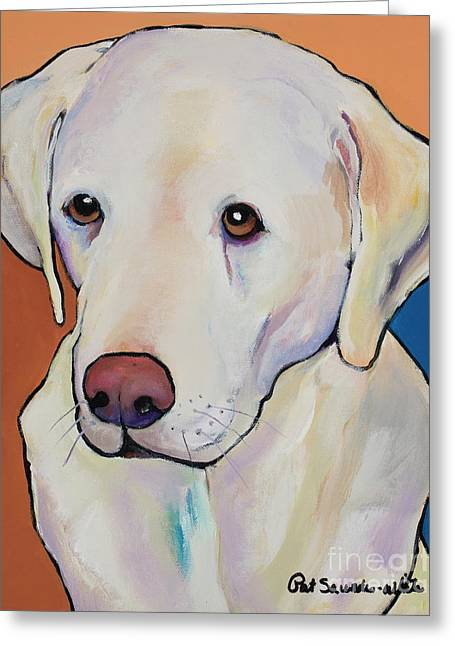 Millie Greeting Card by Pat Saunders-White