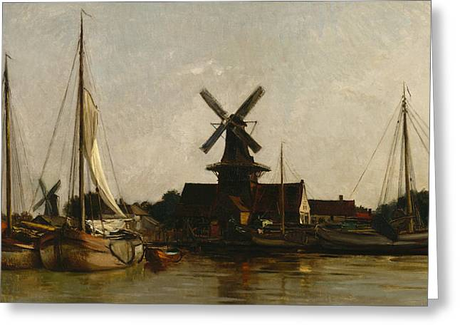 Mills Greeting Cards - Mills at Dordrecht Greeting Card by Charles Francois Daubigny