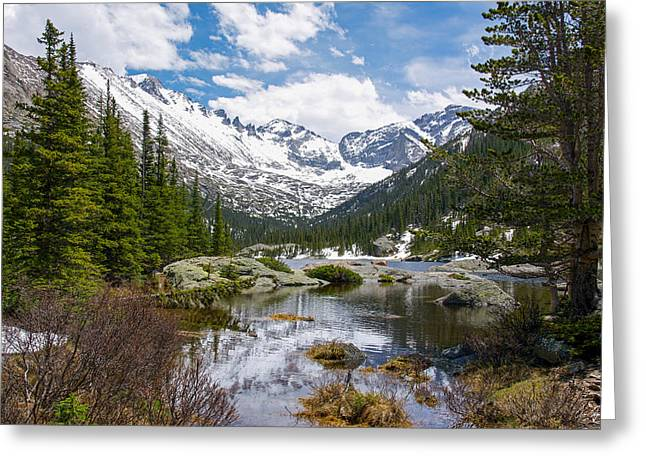 Mills Glacier Greeting Cards - Mills Lake - Rocky Mountain National Park Greeting Card by Aaron Spong
